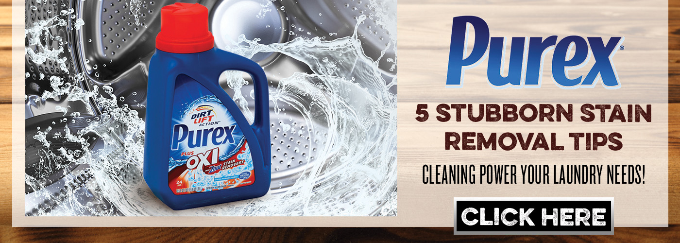 5 Stubborn Stain Removal tips from Purex